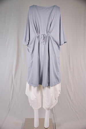 1581 Vertical Seamed Drawcord Tunic- Blue Dawn-P