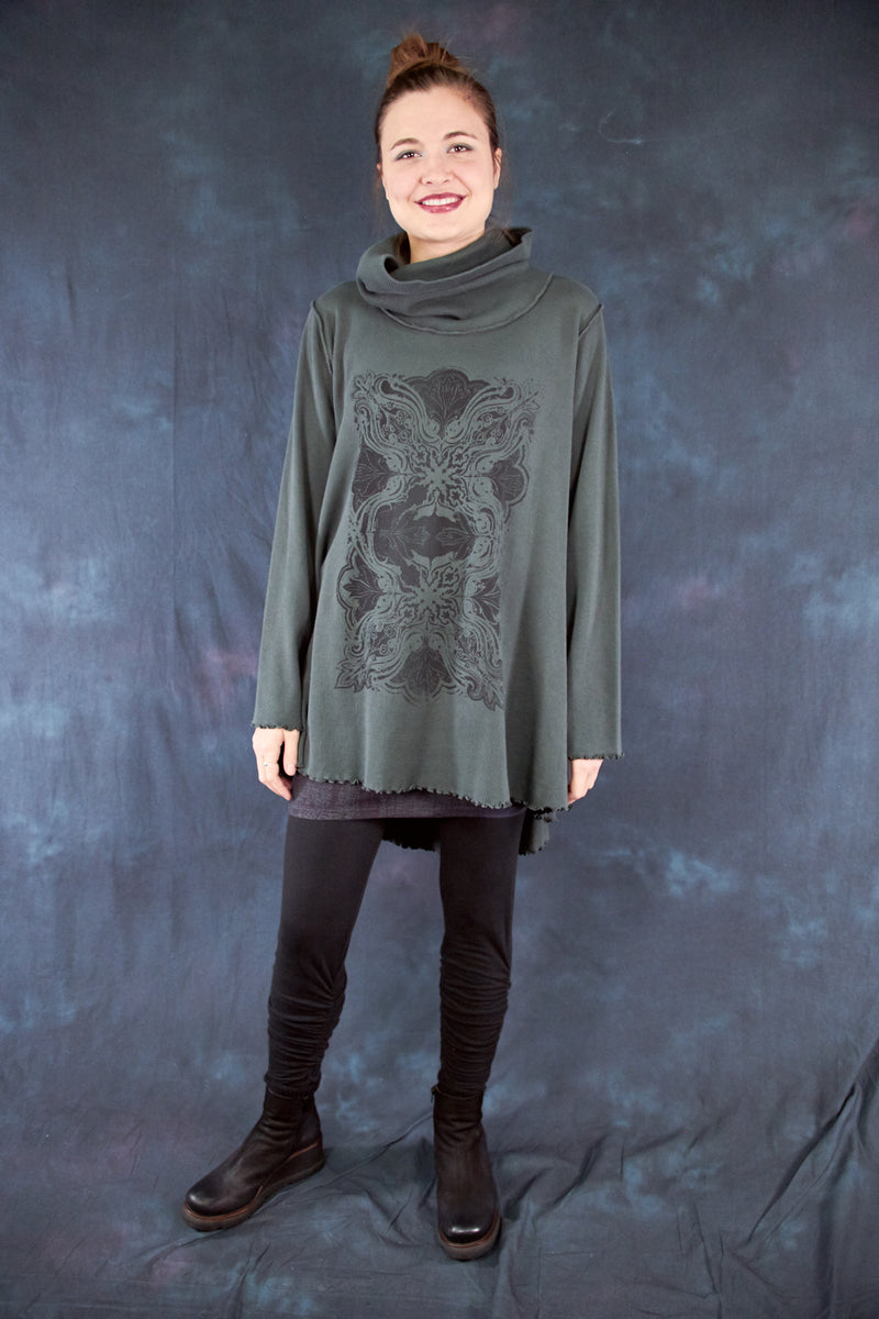 1584A Northern Lights Thermal Tunic Black Olive Drab-P