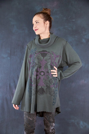 1584B Northern Lights Thermal Tunic Black Olive Drab-Printed