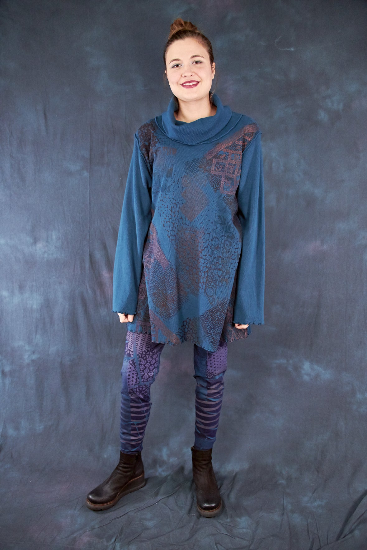 1584 Northern Lights Thermal Tunic Teal-P
