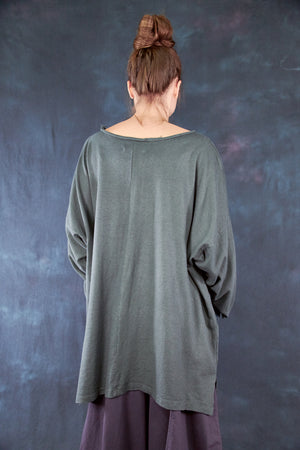 1585 Oversized Cabin Pullover Olive Drab-P