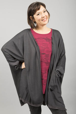 Celebration Cardigan Dark Charcoal UnPrinted