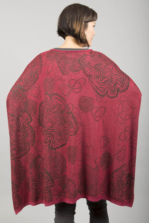 Celebration Cardigan Rouge Printed