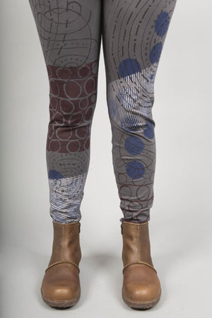 Winter BF Leggings Printed Light Charcoal
