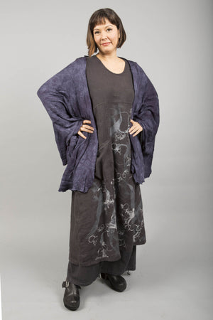 Drape Art Wrap Hand Dyed- Dark Blue Inks, size O/S