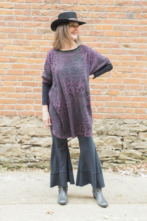 Natural City Tunic Purple Lace