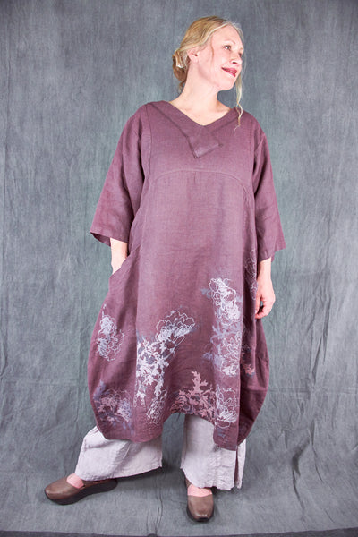 2133 Crossover Linen Tunic Incense-Meadow Flower