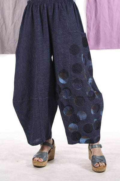 3289 Striped Four Square Pant Elemental Blue/Indigo Stripe - Printed-multi dot