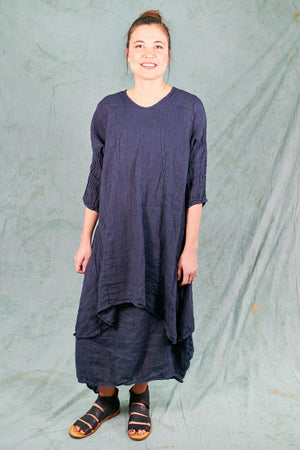 2193 Sun Drawing Tunic-Blue Ink-U