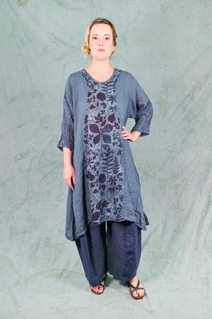 2193 Sun Drawing Tunic-Century Blue-P