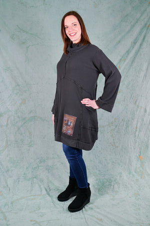 2207 Thermal Travel All Roads Tunic-Stone-Patched
