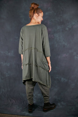2222 Raw Seam Vector Army Green-P