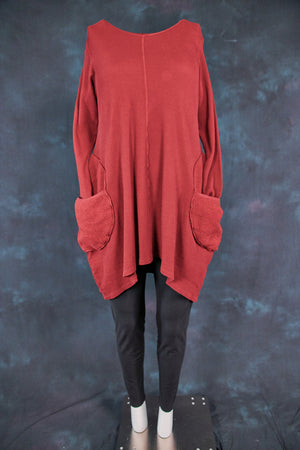 2231 Organic Thermal Winter Spirit Tunic-Capsicum-U