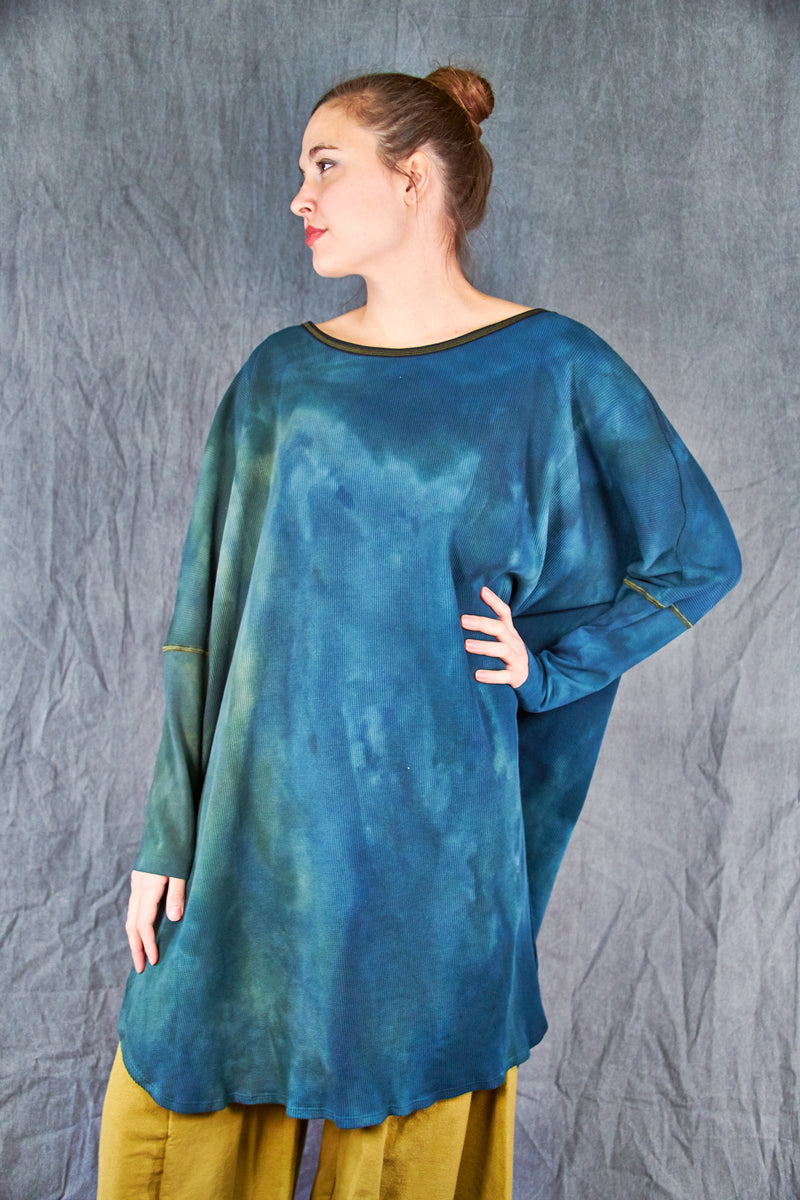 2251HD Hand Dyed Natural City Tunic -Green Jade