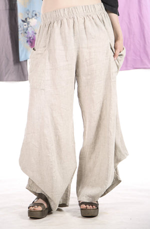 3243 Linen Billow Pant Natural-U