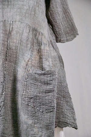 2259 Hand Dyed 2 Pocket Crinkle Dress-Sage