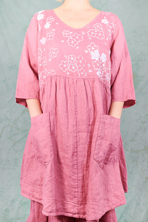 2259 Charleston Linen Tunic Bloom-P
