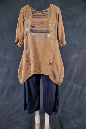 2265 Scoop Tunic Coyote- Pollock Textile