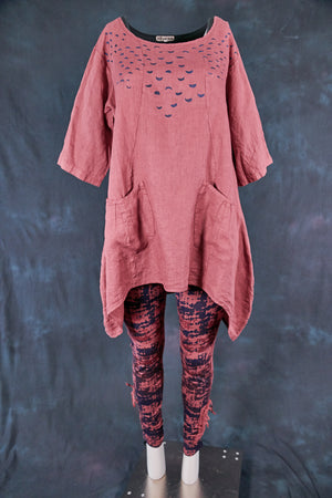 2265 Scoop Tunic Rose Canyon-Moon Phases