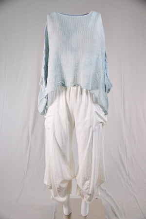 3243-Linen Cotton Billow Pant-Cloud-U