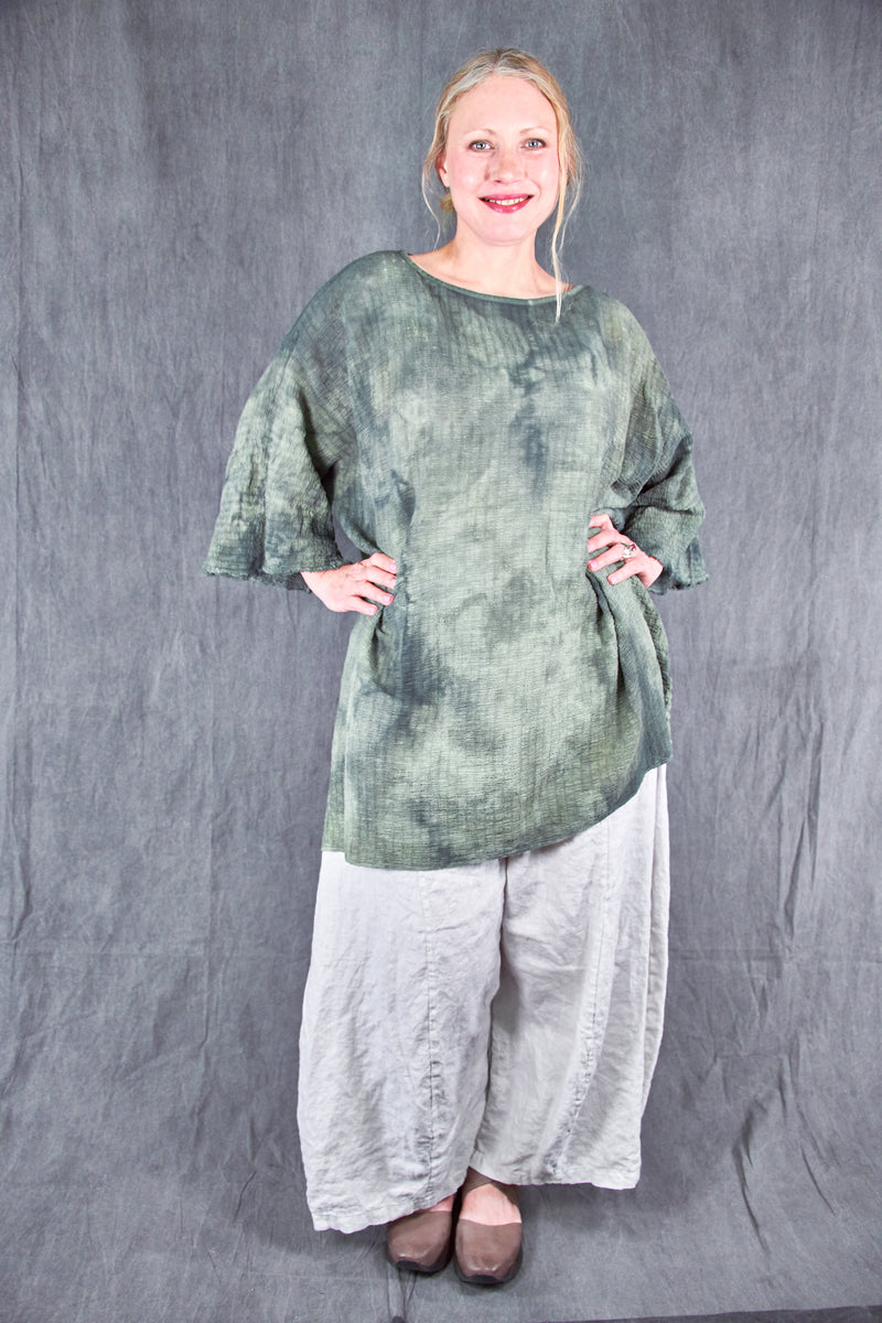2282 Hand Dyed Ana Tunic -Shade Forest