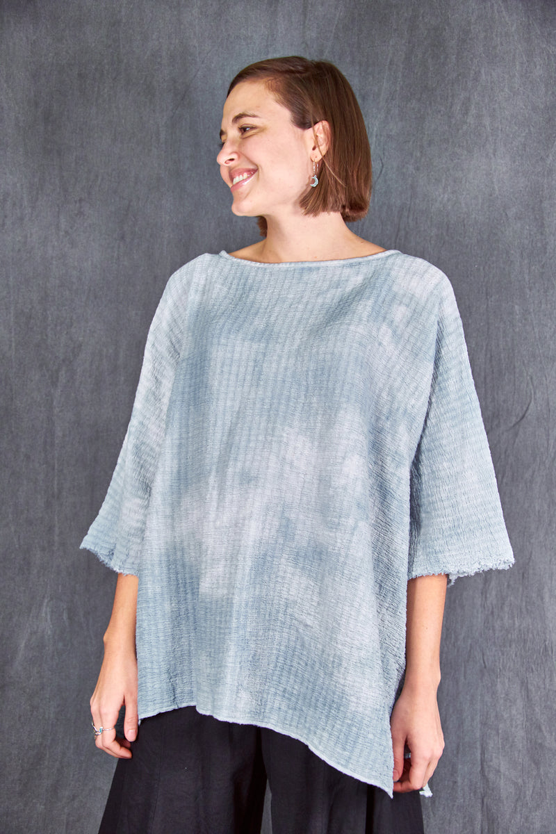 2282HD Hand Dyed Ana Tunic-Sky