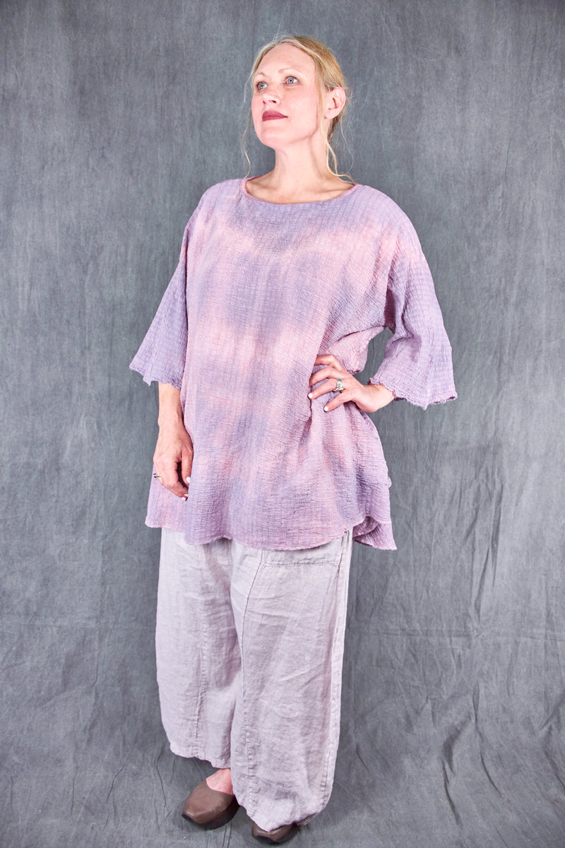 2282 Hand Dyed Ana Tunic -Orchid