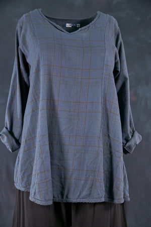2288 Caravan Camp Tunic-Blue Cypress-U