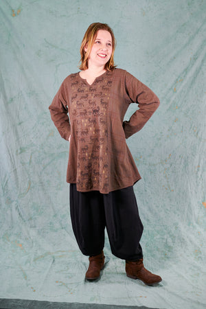 2288 Caravan Camp Tunic-Sparrow -Tigers
