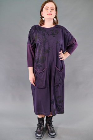2303 Cotton Bamboo Mariposa Dress-Moonrise-Nocturnal Botanical