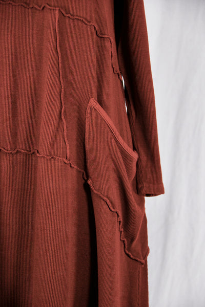 2308- Thermal Vector with Pockets-Russet-Unprinted