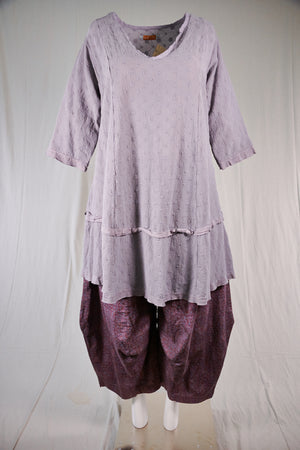 2311 Gypsy Gauze Summer Dress-Purple Dusk