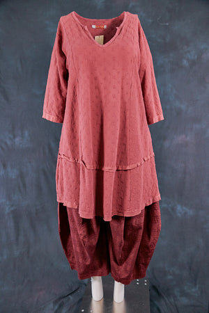 2311 Gypsy Gauze Summer Dress-Rose Canyon-U