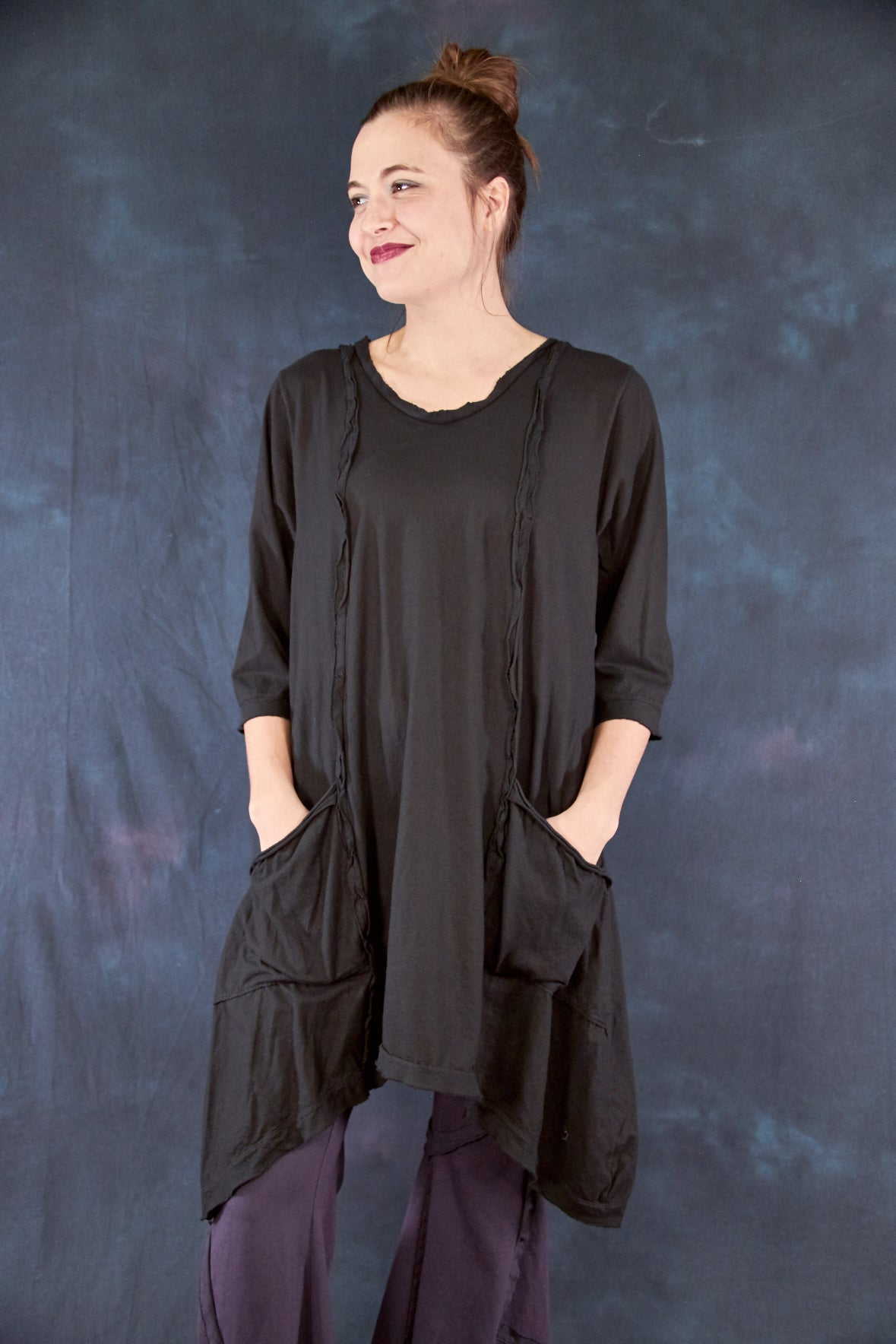 2313 Everyday Tunic Black-U