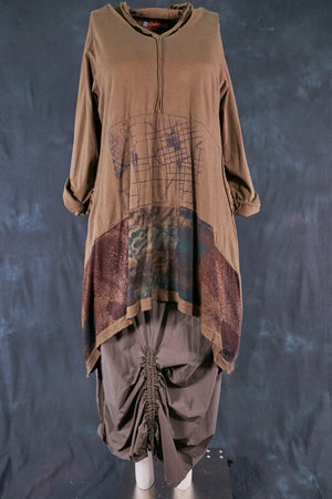 2316 Hi/Lo Hooded Tunic-Cargo-Visual Poetry