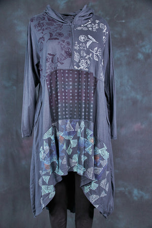 2316 Hi/Lo Hooded Tunic-Lux-Mixed Media