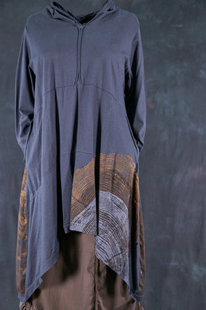 2316 Hi/Lo Hooded Tunic-Lux-Cosmic Light