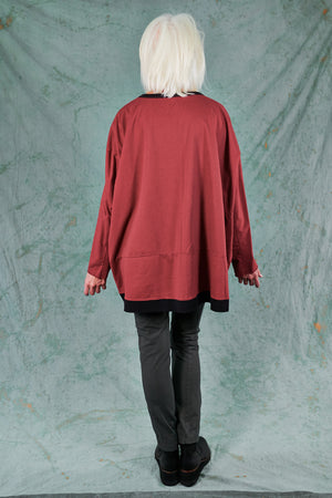 2321 Contrast Bind Sweatshirt-Nepal-Patched