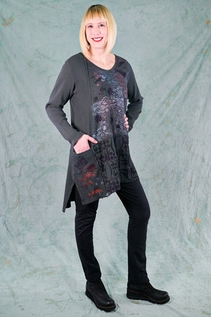2325 City Stitch Tunic Thermal-Soot-P