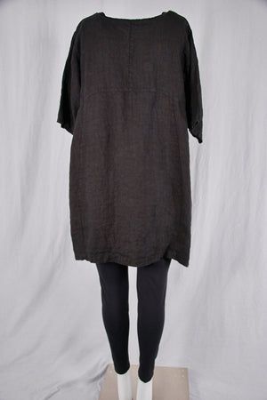 2332 Oversized Heavy Linen Zen Black-P