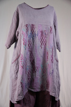 2332 Oversized Heavy Linen Zen-Purple Dusk-P