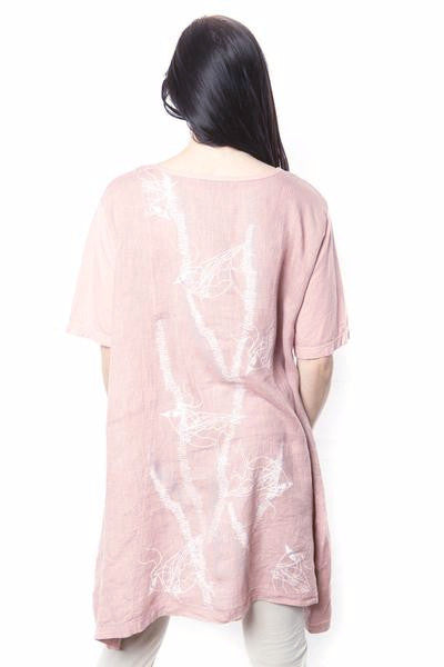 Rosita Tunic With OJ Sleeve Rose Blush Printed