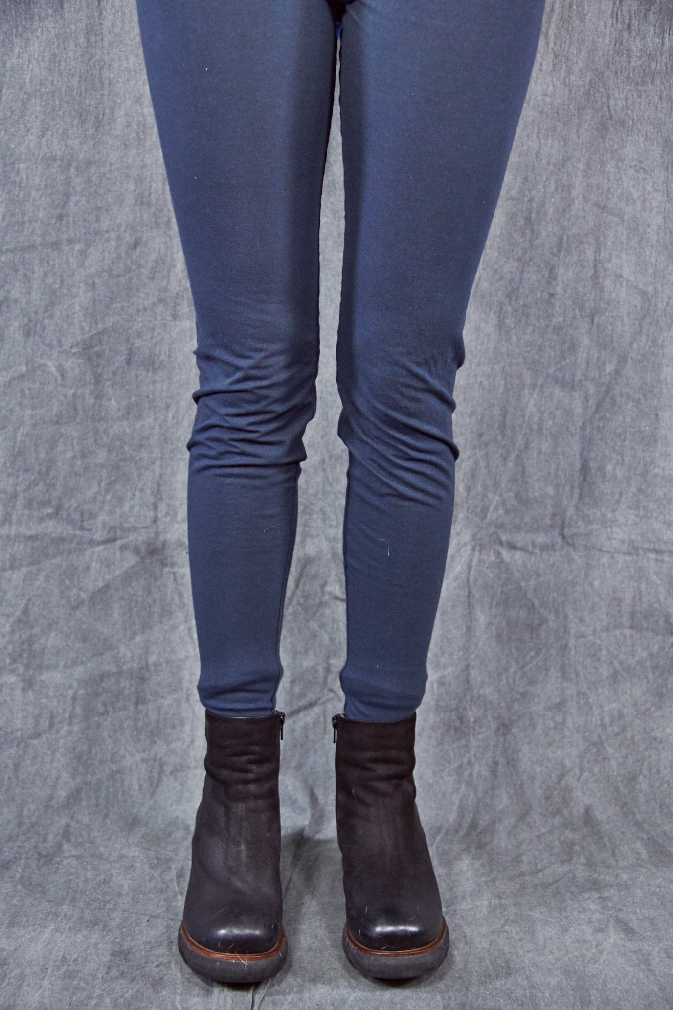 3136 Organic Cotton Legging Blue Coal-U