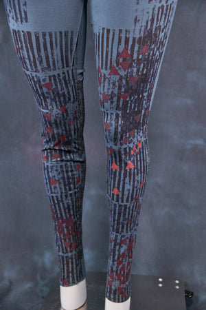 3136 Handprinted Legging Hypnea-Geometrical Form