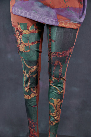 3136 Handprinted Legging Oxide-P