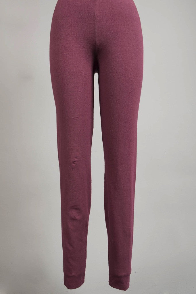 Winter Leggings Plum Rose-UnPrinted