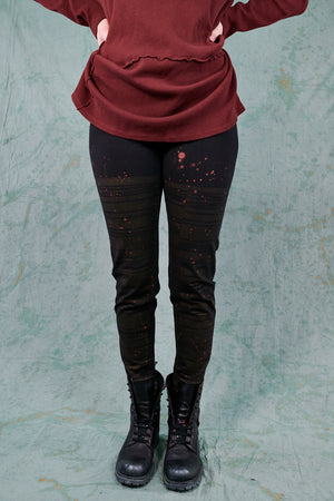 3136 Lightweight Legging Noir-Autumn Rain