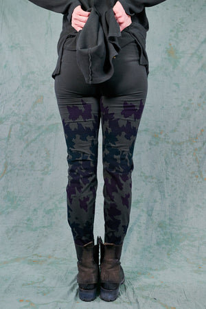 3136 Handprinted Legging-Soot-P