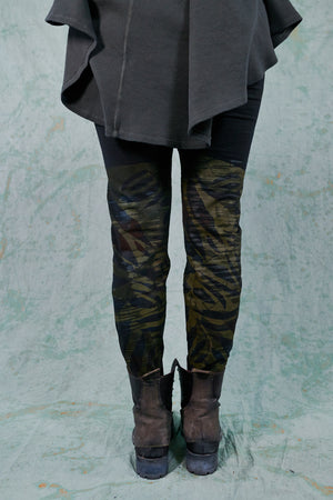 3136 Lightweight Legging-Black-Leaf Camo
