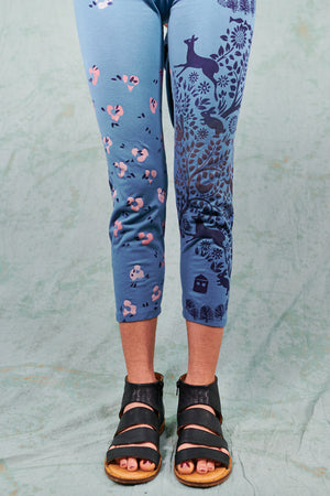 3167 Cropped Legging Delft-P